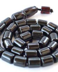 Κομπολόι από Μαύρο Πρεσαριστό Κεχριμπάρι