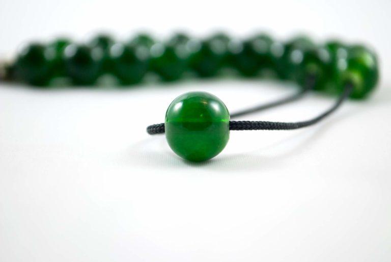 Κομπολόι από πράσινο γυαλί