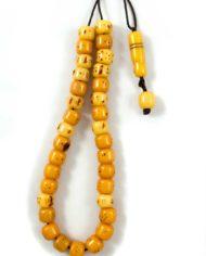 Κομπολόι από μαστίχα κίτρινου χρώματος | Το Κομπολόι 52