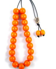 Πορτοκαλί κομπολόι από βακελίτη