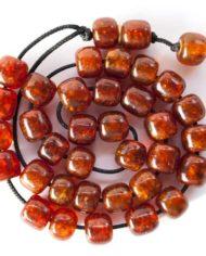 Κομπολόι από καφέ-κόκκινο κεχριμπάρι βαλτικής | To Κομπολόι 52