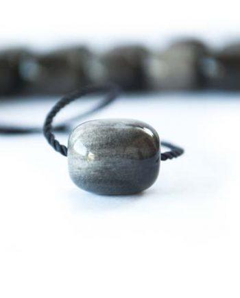 Κομπολόι από μαύρο-γκρι Οψιδιανό | Το Κομπολόι 52